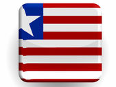 Liberia. Liberian flag painted on glossy icon — Stock Photo