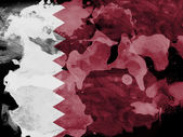 The Qatari flag — Stock Photo