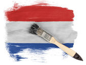 The Netherlands flag — Stock Photo
