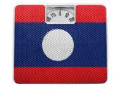 The Laotian flag — Stock Photo