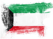 The Kuwaiti flag — Stock Photo