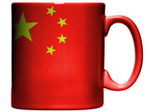 A bandeira chinesa — Fotografia Stock