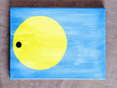 Palau flag painted over wooden board — Stock Photo