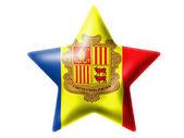 Andorra flag. Glossy star — Stock Photo