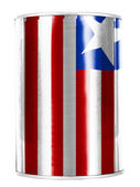 Liberia. Liberian flag painted on shiny tin can — Stock Photo