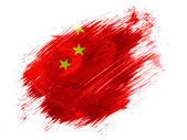 La bandera de china — Foto de Stock