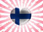 The Finnish flag — Stock Photo