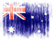 The Australian flag — Stockfoto