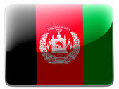 Afghanistan flag painted on square interface icon — Foto de Stock