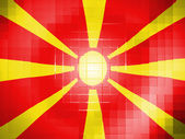 Macedonia flag on wavy plastic surface — Stock Photo
