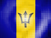 Barbados. Barbadian flag on wavy plastic surface — Stock Photo