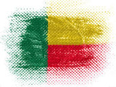 Benin. Benini flag on dotted surface — Stock Photo