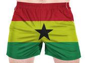 加纳国旗 — 图库照片