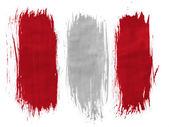 La bandera de perú — Foto de Stock