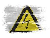électrocution signe peint sur le fond blanc — Photo