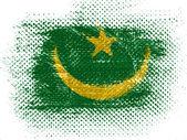 毛里求斯国旗虚线表面上 — 图库照片