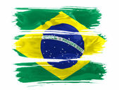 The Brazilian flag — Stock Photo