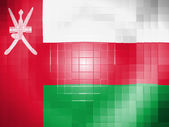 Oman flag on wavy plastic surface — Stock Photo