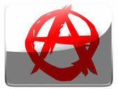 Anarchy symbol painted on square interface icon — Stock Photo