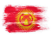 Kyrgyzstan flag on white background — Stock Photo