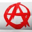 Stock Photo: Anarchy symbol painted on simple paper sheet