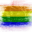Gay pride flag on dotted surface — Stock Photo #23430450