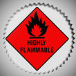 Highly flammable sign drawn on — Stock Photo #23430556