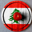 Stock Photo: Lebanese flag