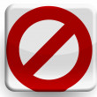 Forbidden sign   painted on glossy icon — Stock Photo