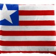 Stock Photo: Liberia. Liberiflag painted on pillow