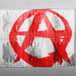 Stock Photo: Anarchy symbol painted n painted on pills