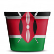 Kenya flag — Stock Photo