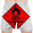 Highly flammable sign drawn on — Stok fotoğraf