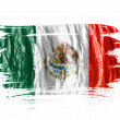 The Mexican flag - Stock Photo