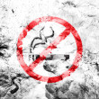 Stock Photo: No smoking sign painted dirty and grungy paper