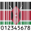 Kenya flag painted on barcode surface — Stock Photo #23432010