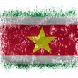 Surinamese flag  on white background - Stock Photo