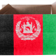 Afghanistan flag painted on carton box or package - Stock Photo