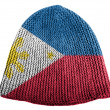 Stock Photo: Philippine flag painted on cap