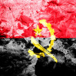 Angola. Angolan flag  painted dirty and grungy paper - Stock Photo