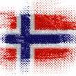 The Norwegian flag - Stock Photo