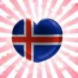 The Icelandic flag — Stock Photo #23433446