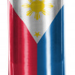 Stock Photo: Philippine flag painted on shiny tin can