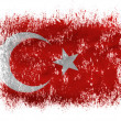 The Turkish flag - Stock Photo