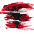Albania. Albanian flag painted on white surface - Stock Photo