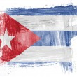 The Cuban flag — Stock Photo