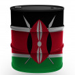 Kenya flag — Stockfoto