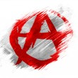 Stock Photo: Anarchy symbol painted n painted with brush on white background