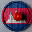 Cambodia flag - Stock Photo