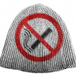 Stock Photo: No smoking sign drawn at painted on cap